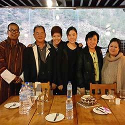 Ms. Lilita & her family in Bhutan