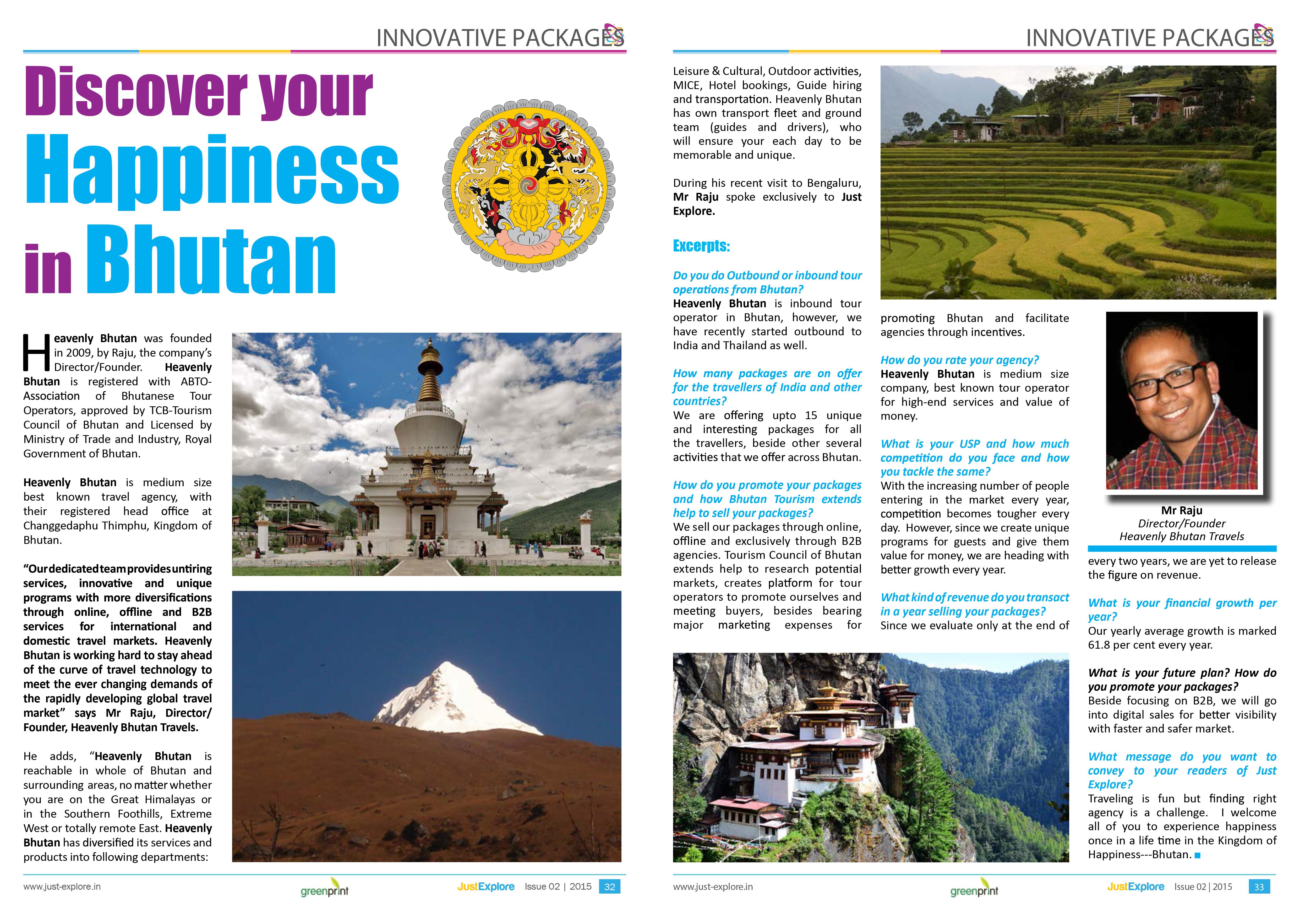 Heavenly Bhutan in Just Explore